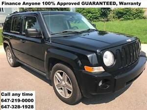 2007 Jeep Patriot Sport AUTO 4WD FINANCE 100% APPROVED WARRANTY