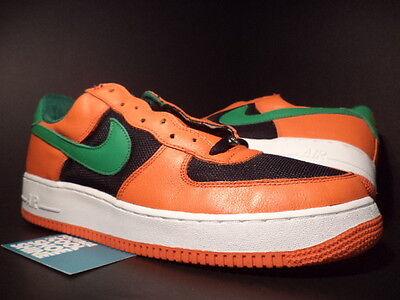 2003 Nike Air Force 1 Low Carnival Orange Flash Green Black White 307334 831 13