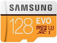 Samsung 128GB EVO microSDXC UHS-I/U3 Memory Card with Adapter, Speed Up to 100MB