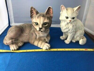 Porcelain Cat Figurines (2)