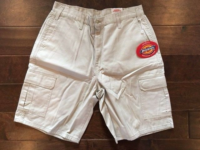 "Dickies Street Loose Fit Khaki Shorts Men Waist 34""  NWT  10"