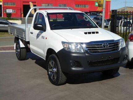 2013 Toyota Hilux KUN26R MY12 Workmate (4x4) White 4 Speed Automatic Cab Chassis Brendale Pine Rivers Area Preview