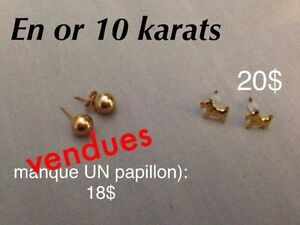 Boucles d'oreille en or 10 karats