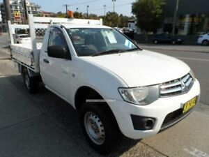 2010 Mitsubishi Triton MN MY10 GLX White 4 Speed Automatic Cab Chassis Rockdale Rockdale Area Preview