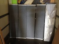 4x 1600x380mm grey desktop screens with metal surround in excellent condition only £50each
