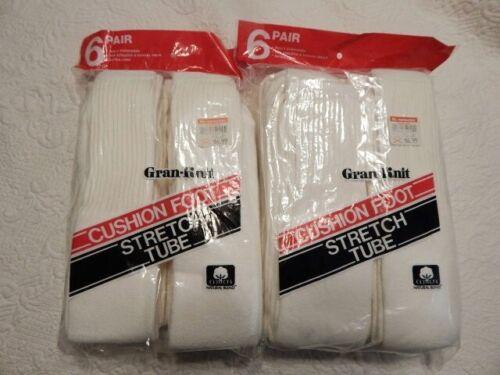 Mens Vintage Gran-Knit Tube Socks 12 Pair New In Package 10-13 Extra Long