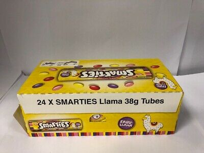 Box Of 24 X 38g Nestle Smartie Tubes Llama - Dated 3/20 LIMITED EDITION