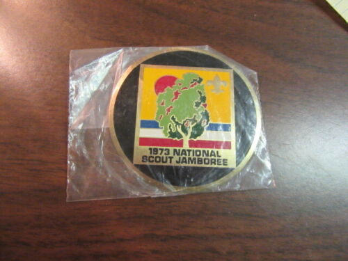 1973 National Jamboree 3 Inch Metallic Stick on     c2