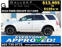 2010 Ford Escape XLT AWD $129 bi-weekly APPLY NOW DRIVE NOW