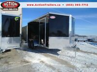 ALL ALUMINUM ENCLOSED NEO 7 X 14' CARGO TRAILER - RAMP DOOR DEAL
