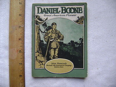 1923 John Hancock Insurance Biography Series Booklet - Daniel Boone
