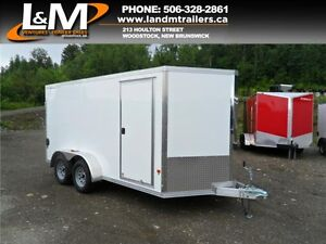 NEW 2016 STEALTH 7X14 ALUMINUM ENCLOSED CONTRACTOR TRAILER