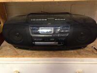 Radio/CD/cassette player, JVC Clapham, London