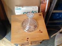 DECANTER SHIP STYLE CRYSTAL
