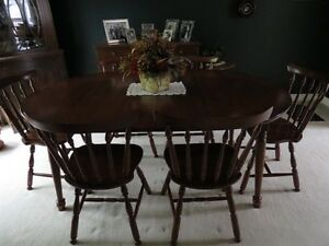 Vilas Dining Table with Six Chairs and Buffet