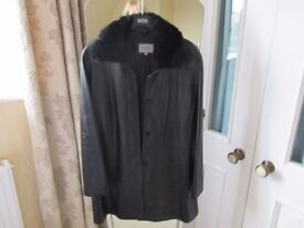 Ladies Marks and Spencer Leather coat