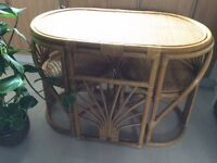Cane two seater dining table