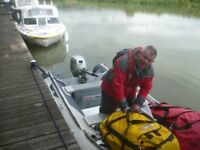 Dinghy/Boat. Honda. Honwave T35AE Inflatable Rig.