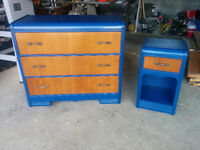 Canadian Retro Dresser with Nightstand