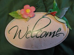 NEW welcome garden stake
