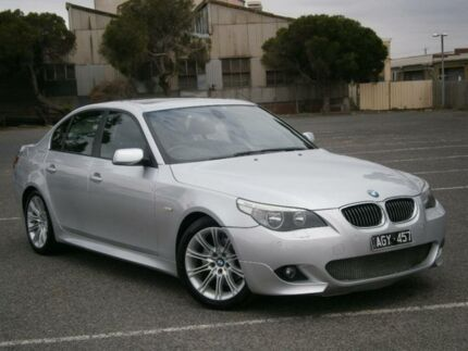 2007 BMW 525i E60 MY06 Upgrade Sport Silver 6 Speed Auto Steptronic Sedan