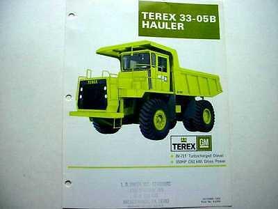 Terex 33-09 33-07 33-05b Hauler Truck Literature 3
