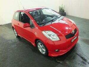 2007 Toyota Yaris NCP91R 06 Upgrade YRX Cherry 5 Speed Manual Hatchback Clemton Park Canterbury Area Preview