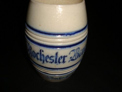Circa 1910 Rochester Brewing Salt Glazed Barrel Mug, New York