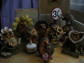 Hedgehog 'Hedgies' Figurines