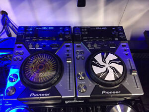 Table pour DJ* Pioneer CDJ-400* Usager* PAIRE* CONDITION 9/10***