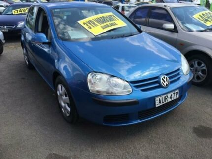 2004 Volkswagen Golf V Comfortline Blue 6 Speed Manual Hatchback