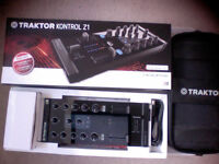 Traktor Z1 controller + carry case +iphone cable. boxed as new