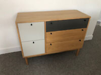 Made Campton Oak and Grey Chest of Drawers Barely Used