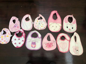 Set of Girl's Bibs