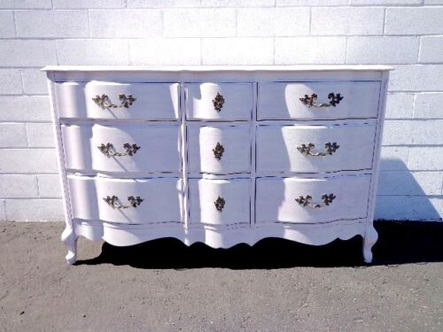 Dresser French Provincial Chest Drawers Media Console Buffet Nursery Table Chic