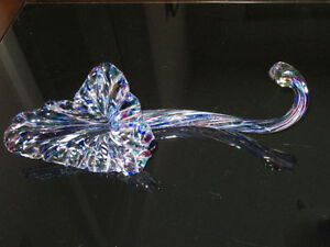 THESE 2 BEAUTIFUL PIECES OF BLOWN GLASS ART DECOR