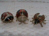 Ornamental metal ladybugs with 'keepsak' compartment