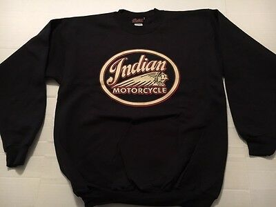 Indian Motorcycle Black Crewneck Sweatshirt - Small
