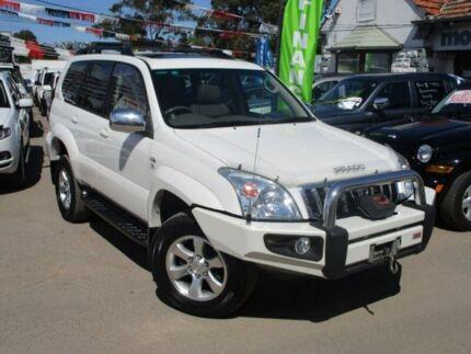 2007 Toyota Landcruiser Prado KDJ120R Grande White 5 Speed Automatic Wagon Gepps Cross Port Adelaide Area Preview