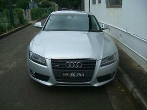 2009 Audi A5 8T MY09 Silver Mica 7 Sports Automatic Dual Clutch Coupe Petersham Marrickville Area Preview
