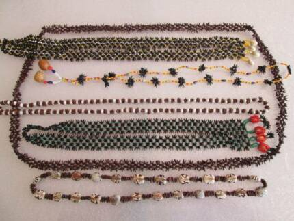 Papua And New Guinea Seed And Bead Necklaces.