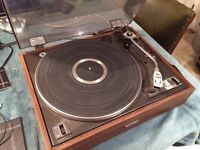 Pioneer PL15R Turntable plus SHURE cartridge and brand new stylus