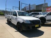 2013 Toyota Hilux TGN16R MY12 Workmate White 4 Speed Automatic Cab Chassis Granville Parramatta Area Preview