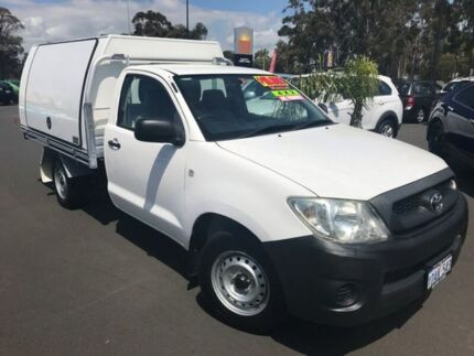 2009 Toyota Hilux TGN16R MY09 Workmate 4x2 White 5 Speed Manual Cab Chassis Bunbury Bunbury Area Preview