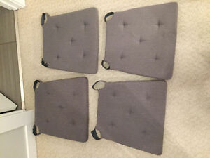 Reduced! Dining Chair Cushions!! Grey, match any decor! comfy!