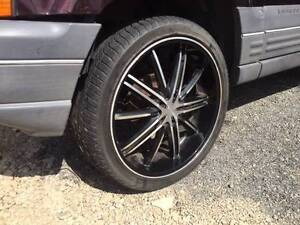 5  WHEELS WITH GOOD TYRES ON IT. THEY ARE 22S THE ARE OFF JEEP Willawong Brisbane South West Preview
