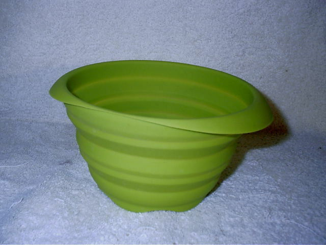 """Collapsible Silicone Strainer Colander Green 7"""" Fruit Vegetable"""