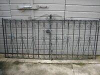 Pair wrought iron gates very heavy