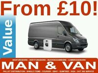 Removals Short-Notice Man and Van Hire £10- Hour Professional & Reliable