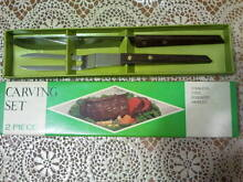 Carving set 2 piece Stainless steel & rosewood handles- Japan Randwick Eastern Suburbs Preview